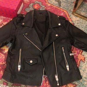 New Blank NYC black Moro leather jacket!